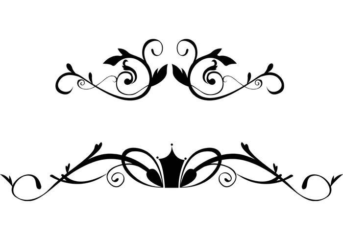Free Floral Ornamental Grenze Vektoren