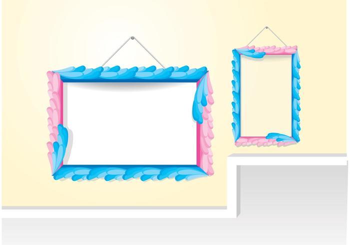 Dekorativa Färgglada Ramvektorer vektor