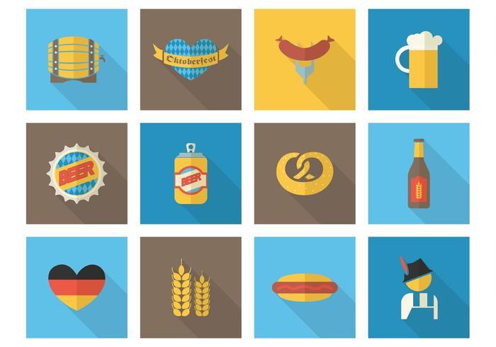 Freie flache oktoberfest vector icons