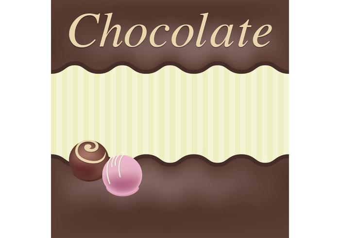 Schokoladen-vektorkarte vektor
