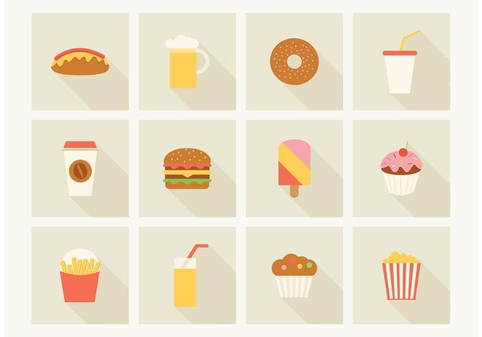 Kostenlose Fast Food Vektor Icons
