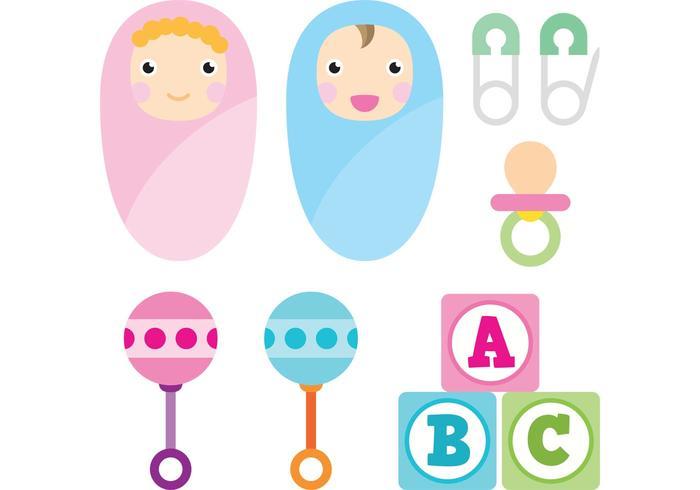 Baby-Vektor-Icons vektor