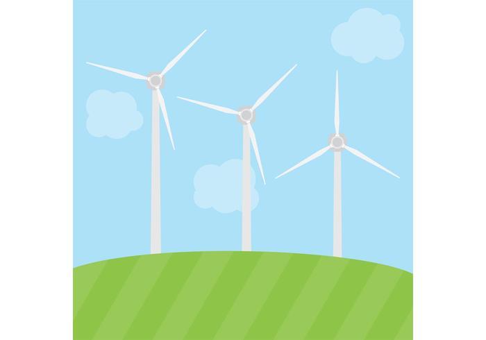 Windmühle Vektor Energie