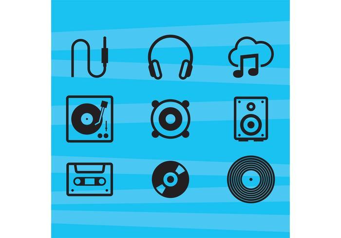 Musikvektorikoner vektor