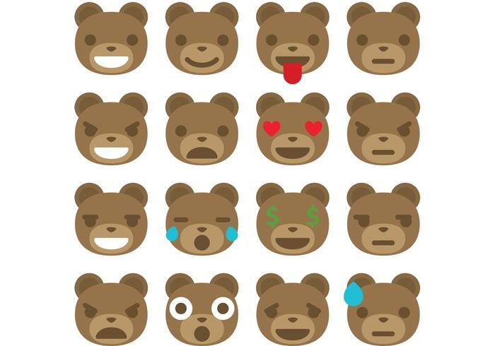 Björn emoticonvektorer vektor