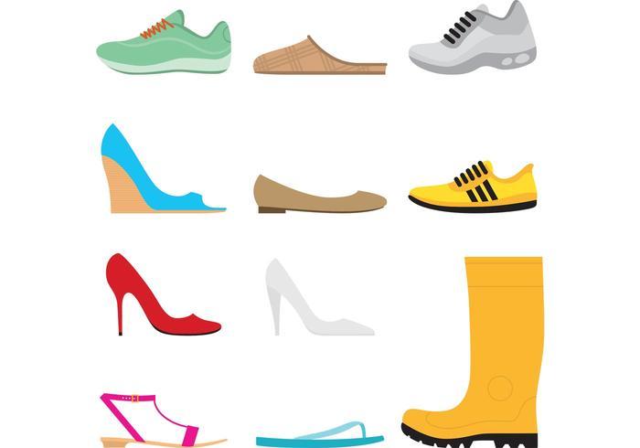 Schuhe Vektor Set