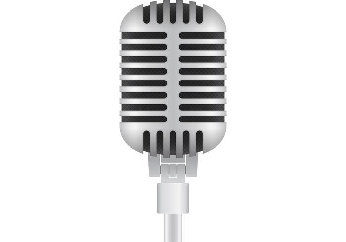Mikrofonvektor vektor