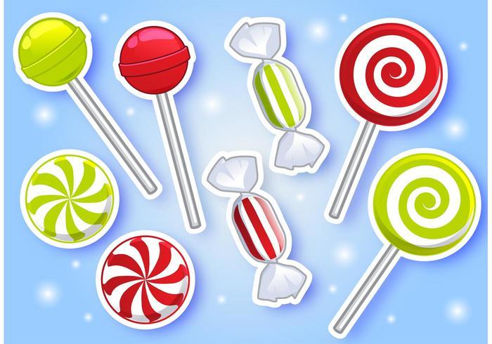 Pfefferminz Süßigkeiten Vektoren