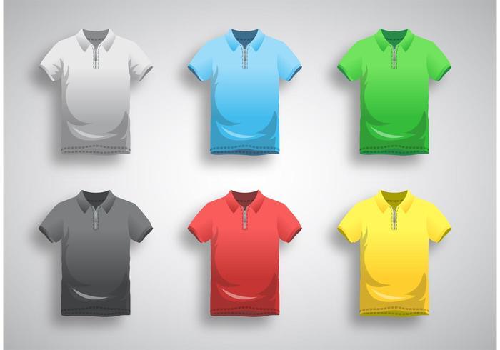Polo Shirt Template Vector