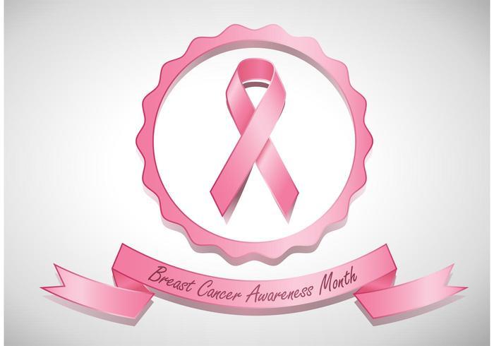 Bröstcancermedvetenhetbandvektor vektor