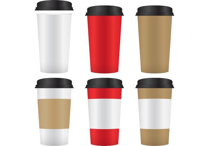 Kaffee-Papier-Cup-Mockup-Vektoren vektor