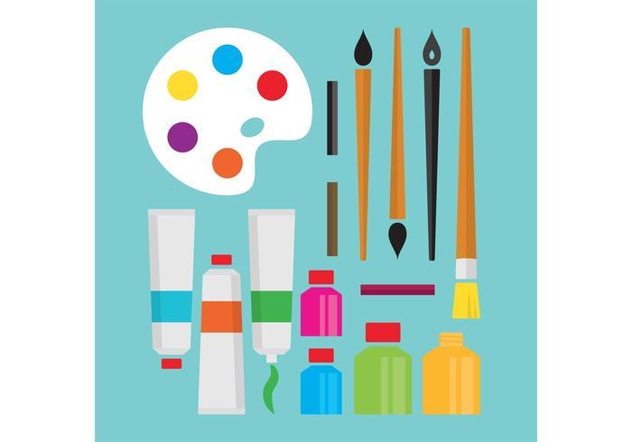 Art Supplies Vektoren