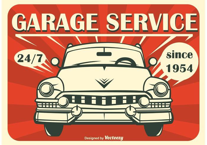 Poster Bilar Retro Vektor Bakgrund