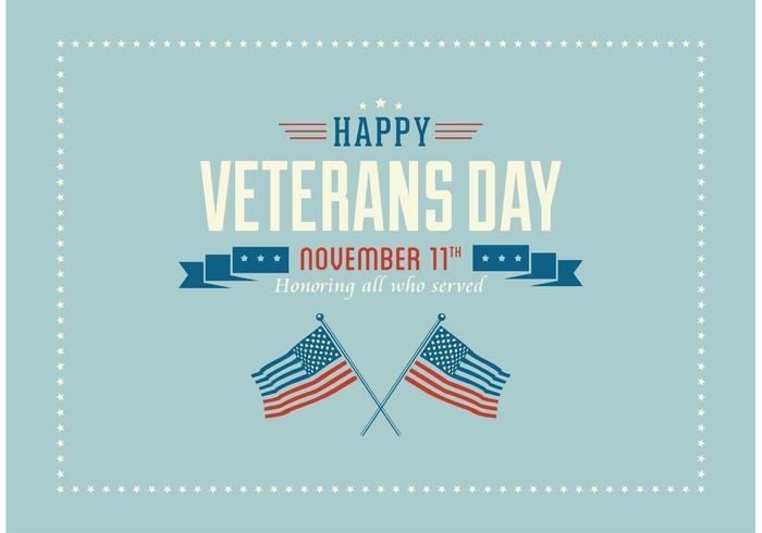 Kostenlose Happy Veterans Day Vector Wallpaper