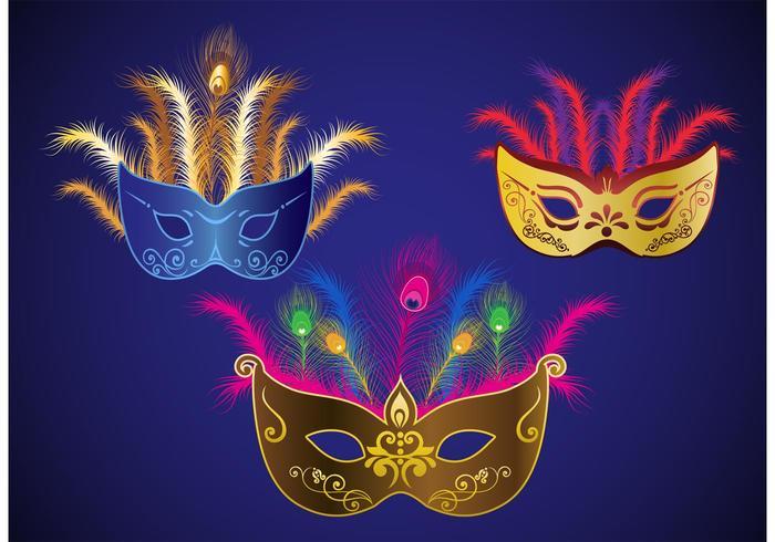 Mardi Gras Vektor Masken
