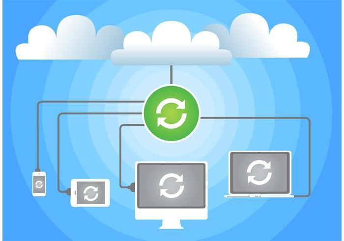 Cloud Computing Konzept Vektor