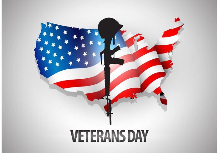 Veterans Dag Vector Bakgrund