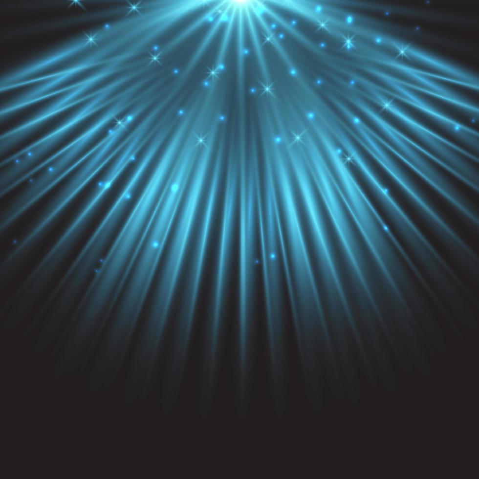 blå stjärna spotlight bakgrund vektor