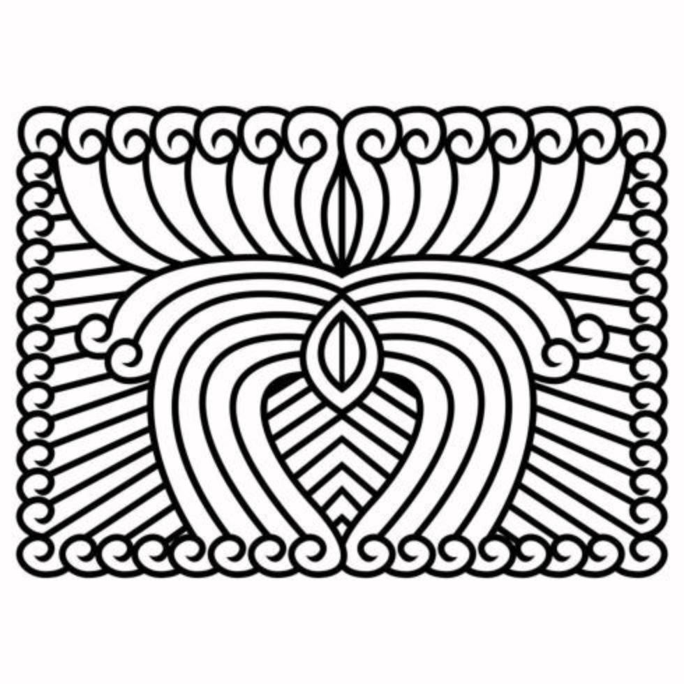 abstrakt prydnadsdesign blommiga tapeter vektor