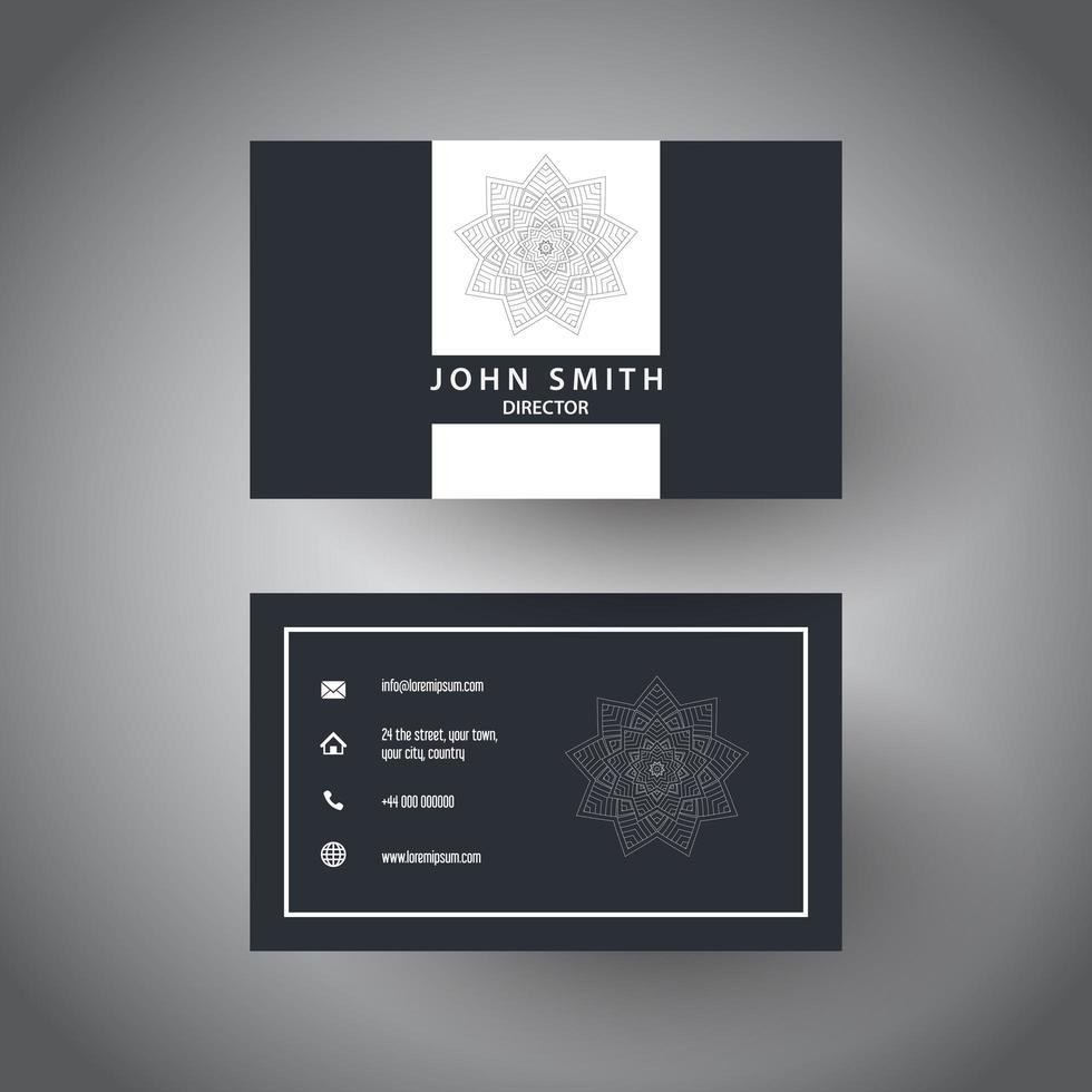 elegant visitkort med en mandala vektor