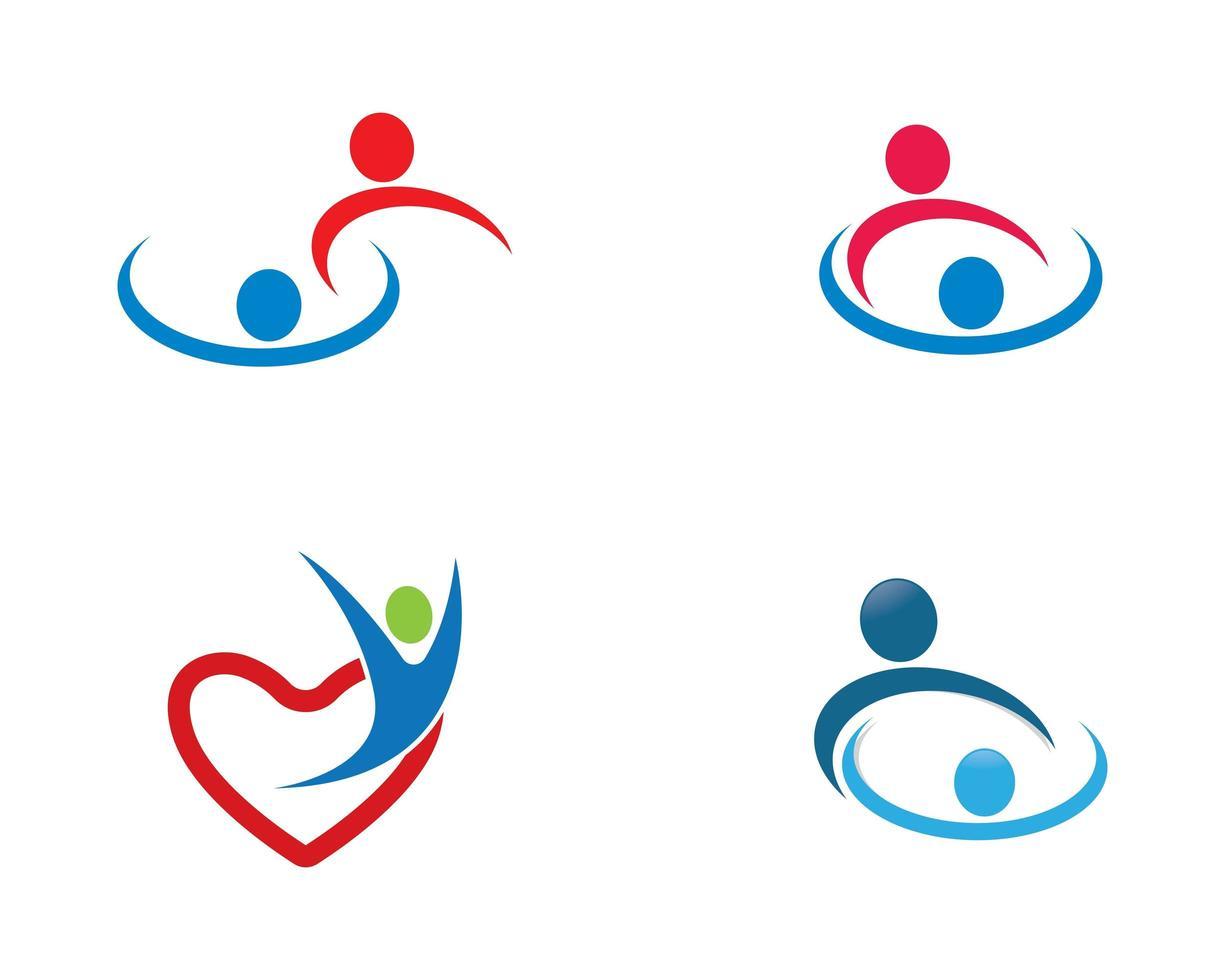 community logotyp mall vektor