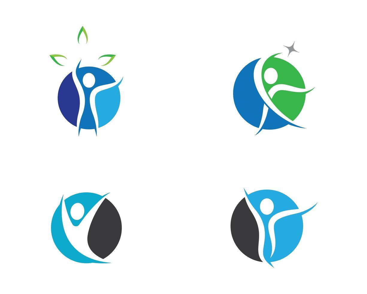 mänskliga wellness och hälsa fitness ikoner vektor