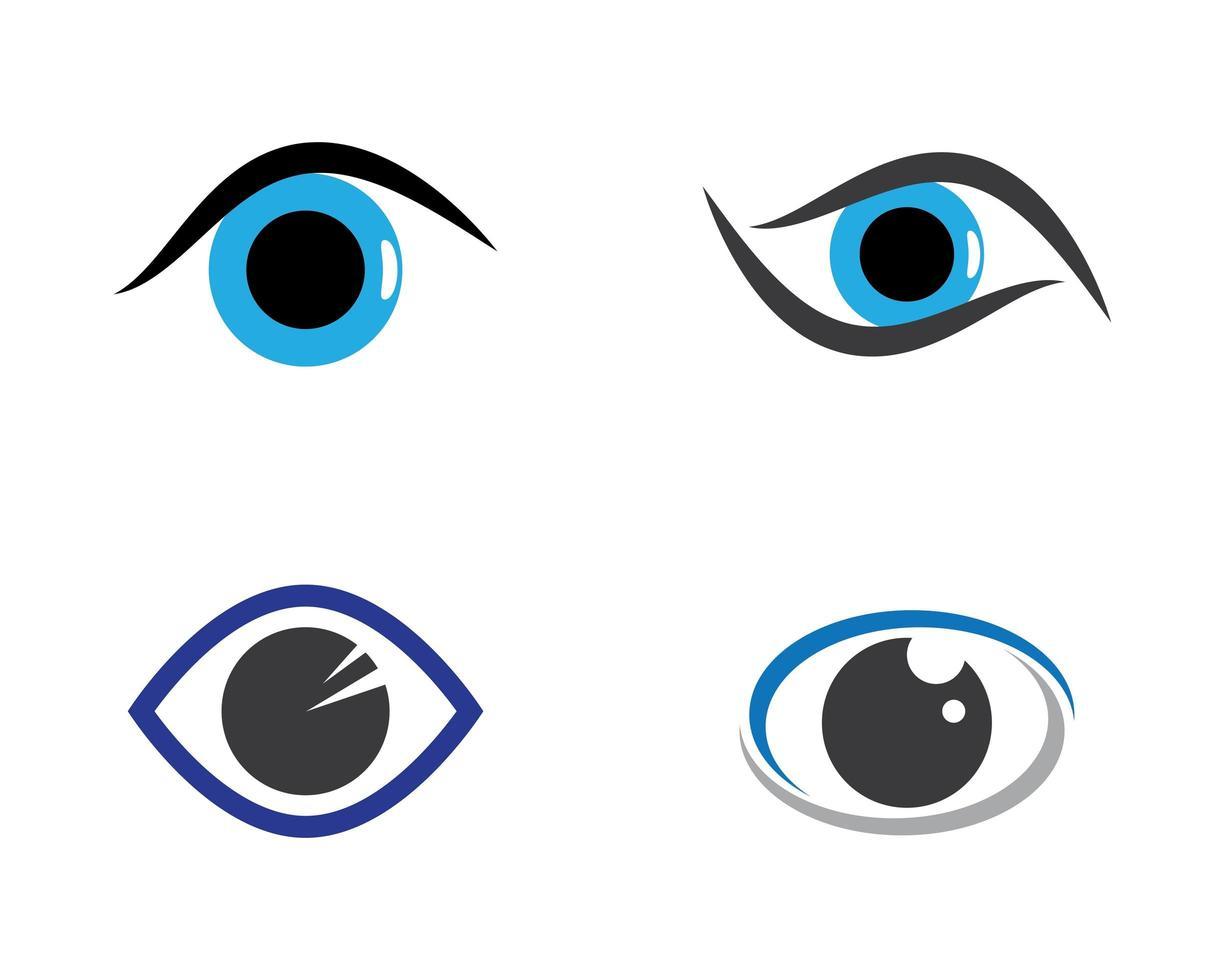 ögon logotyp Ikonuppsättning vektor
