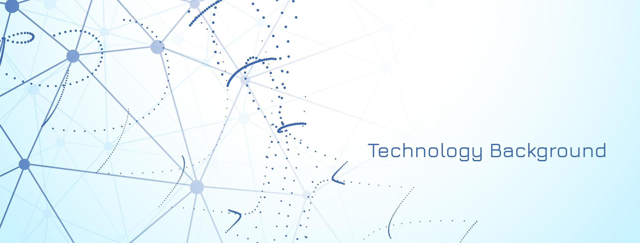modern teknikbanner på ljusblå bakgrund vektor