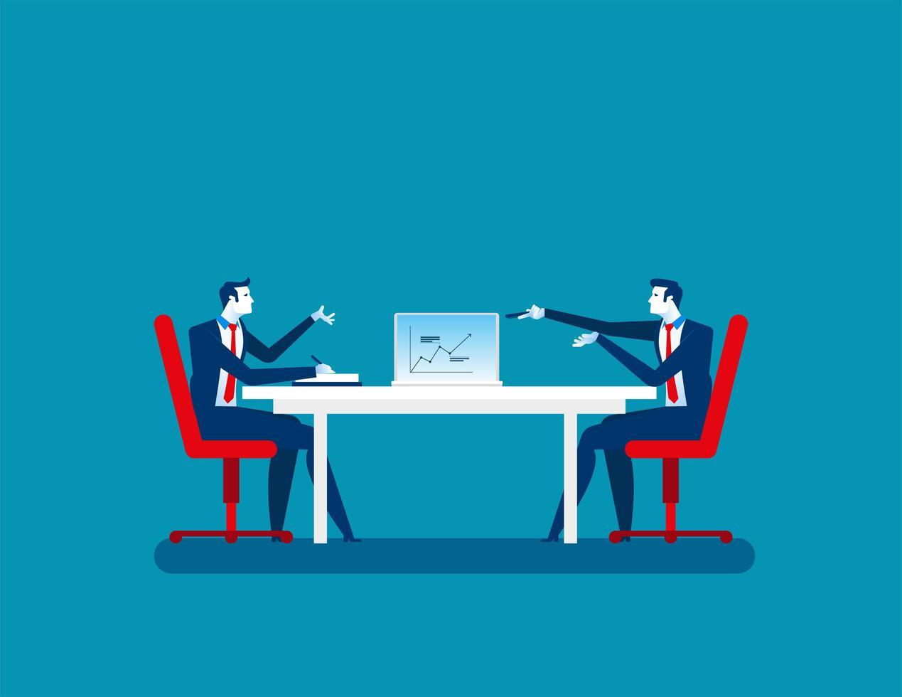 affärsman kollegor vid mötet vektor