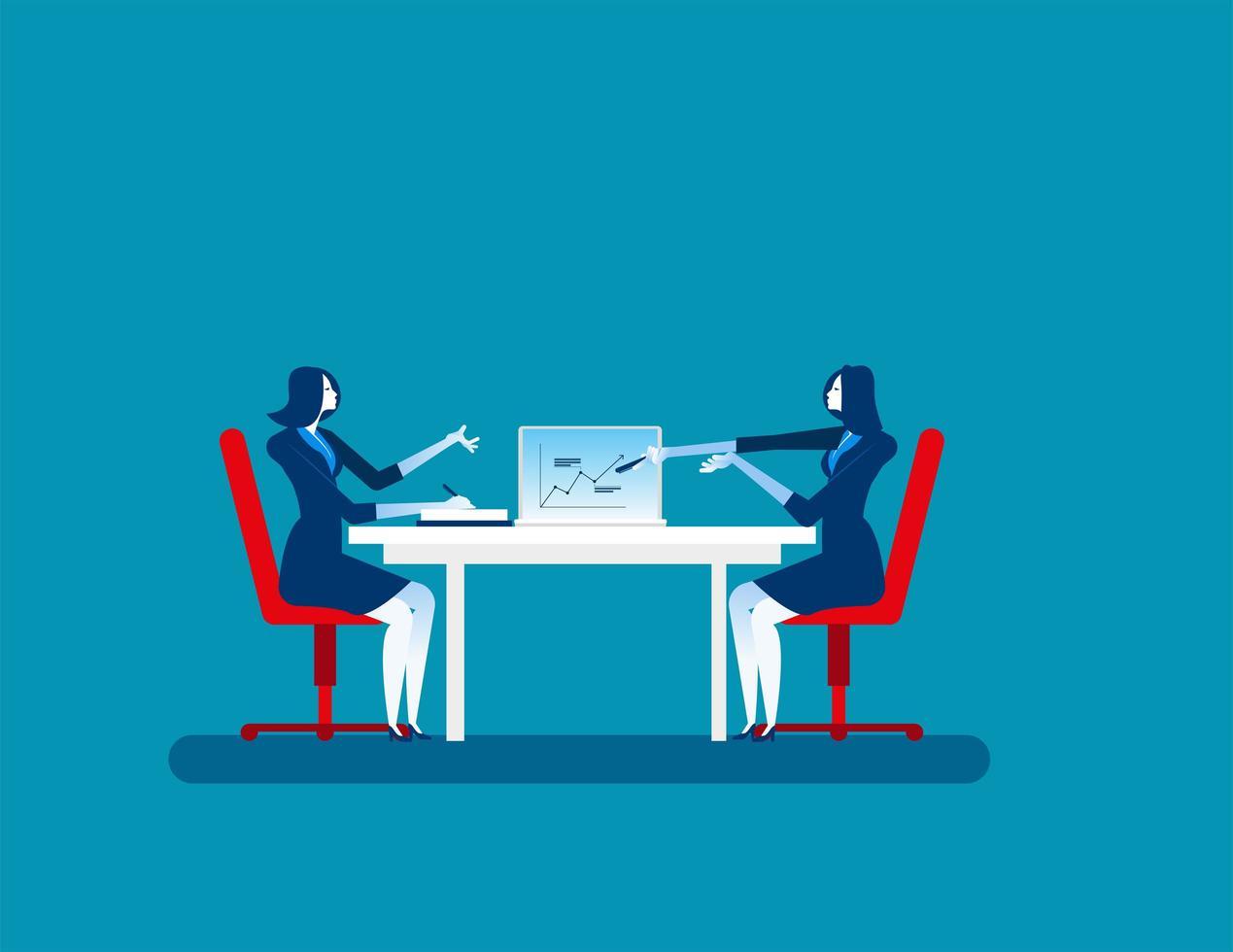 affärskvinnor kollegor på mötet vektor