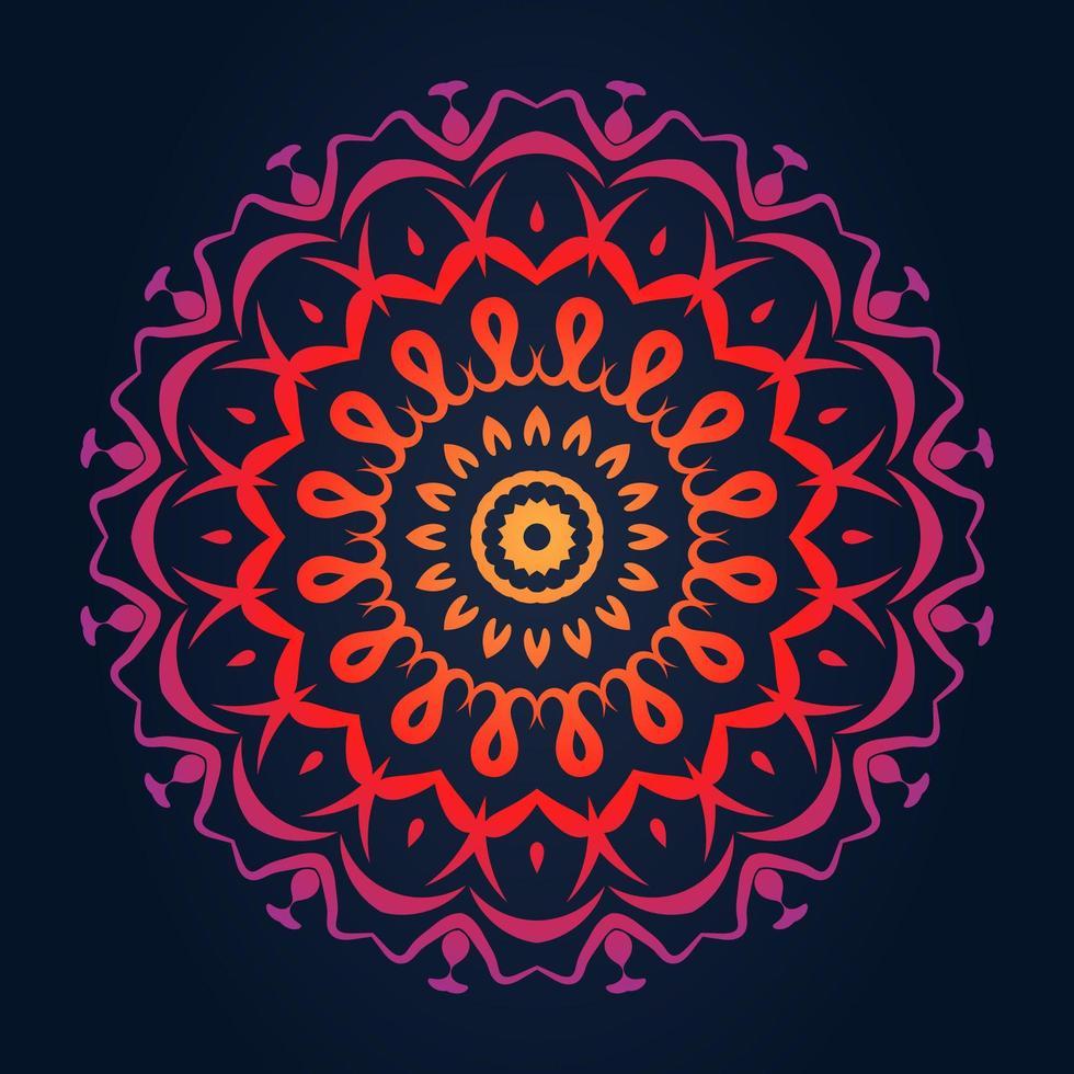 dekoratives rundes Spitzenmusterdesign vektor