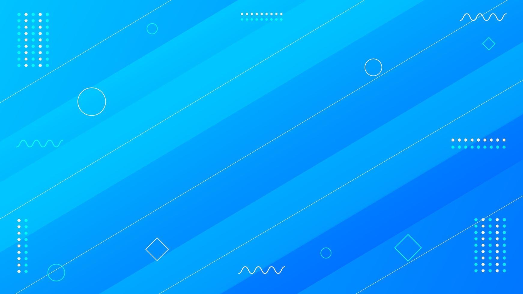 blaues geometrisches modernes Hintergrunddesign vektor