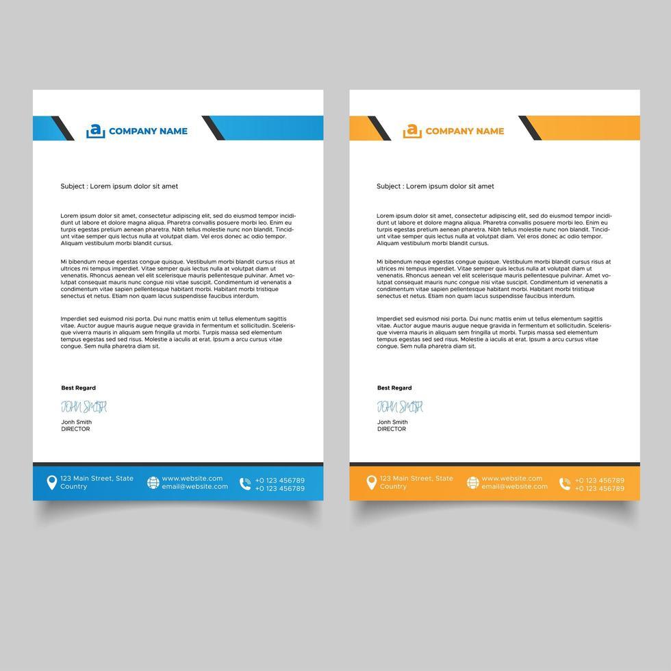 modern professionell brevpappermall vektor