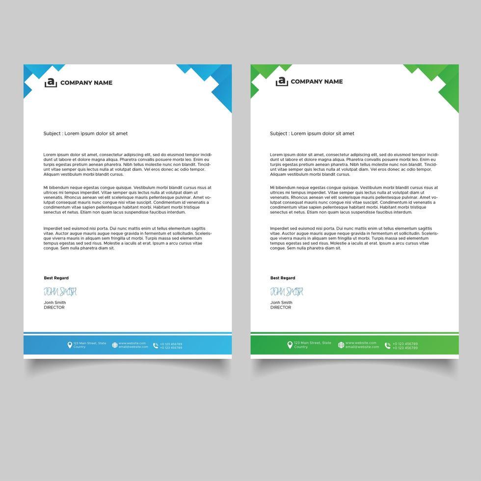 minimal geometrisk design brevpappermall vektor