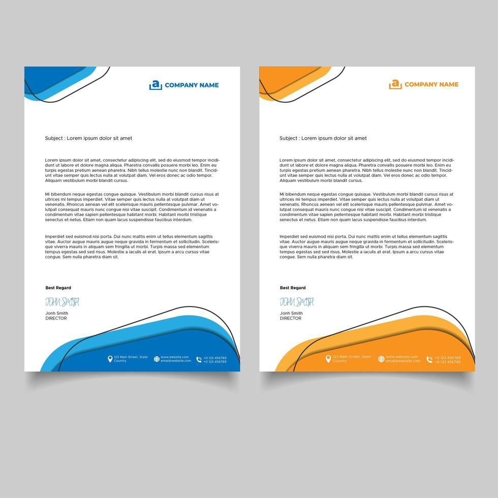 abstrakt design företags brevpappermall vektor