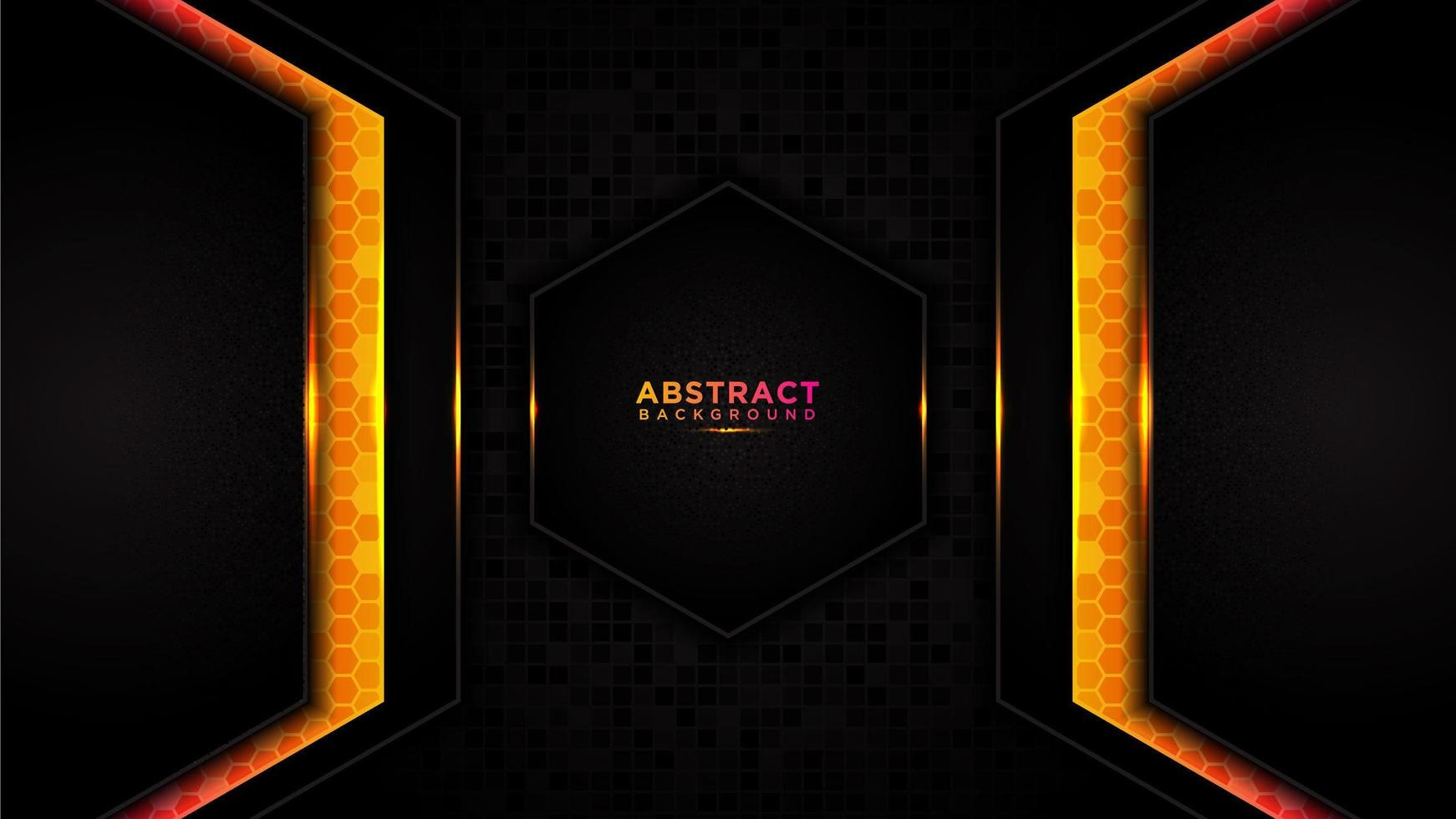modern abstrakt tech orange bakgrund vektor