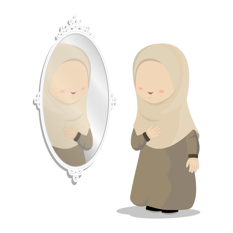 Mädchen mit Spiegel vektor