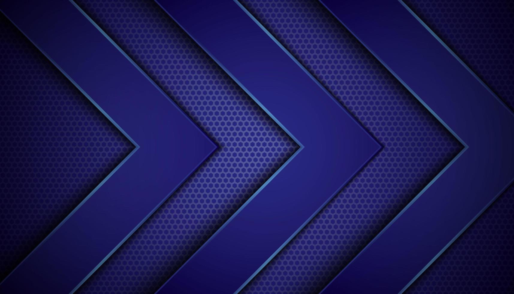 dunkelblauer Hintergrund mit Pfeilschichten vektor