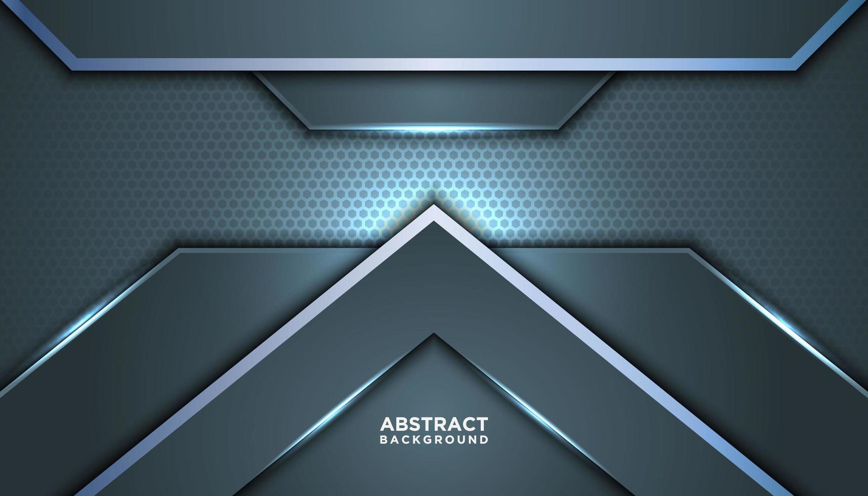 futuristischer grauer blauer abstrakter Hintergrund vektor