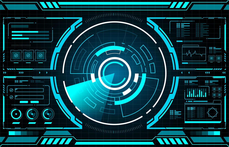 Technologie Radar Schnittstelle Hud vektor