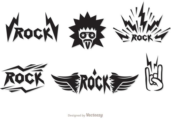 Rock Musik Symbole Vektoren