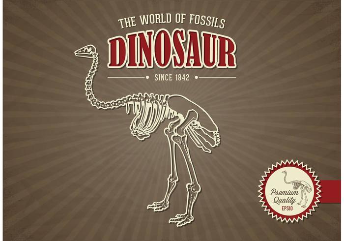 Free Vector Dinosaurier Retro Design