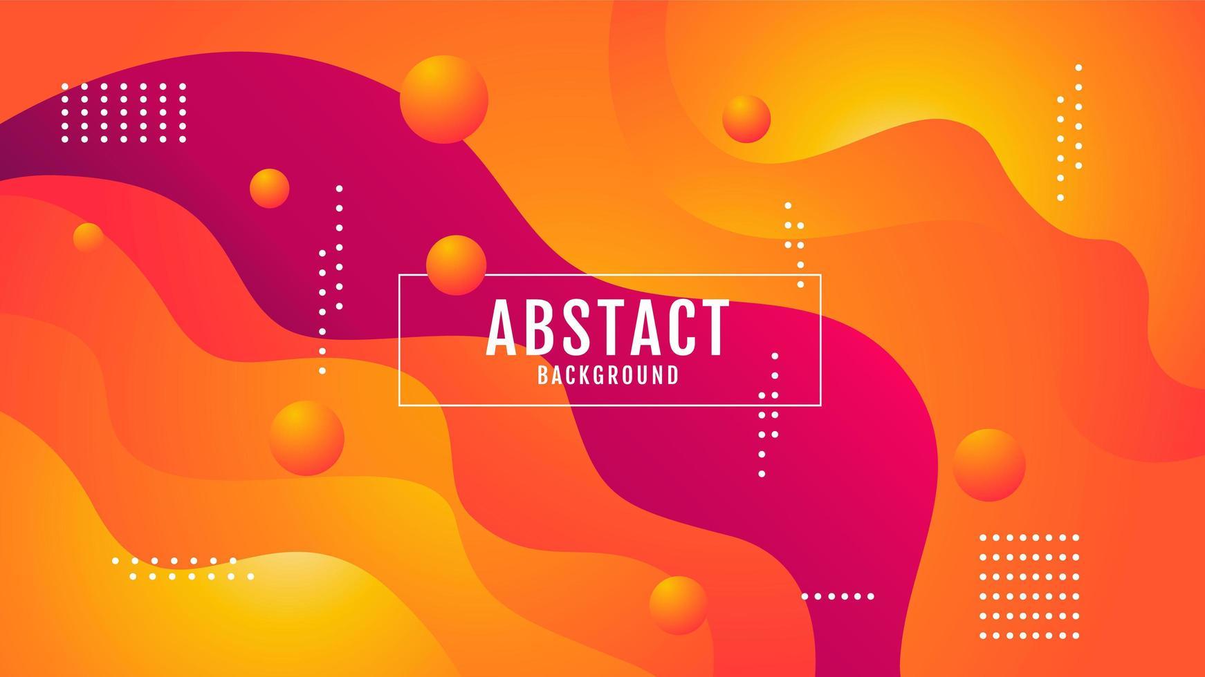 abstrakter gewellter Entwurf des orangefarbenen Farbverlaufs vektor