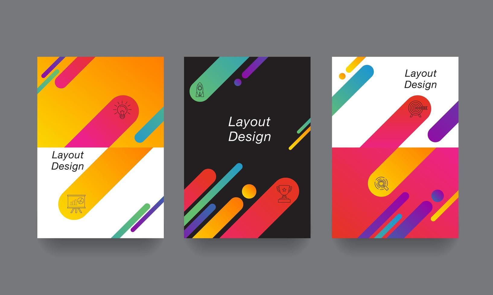 bunte Design-Layout-Vorlage vektor