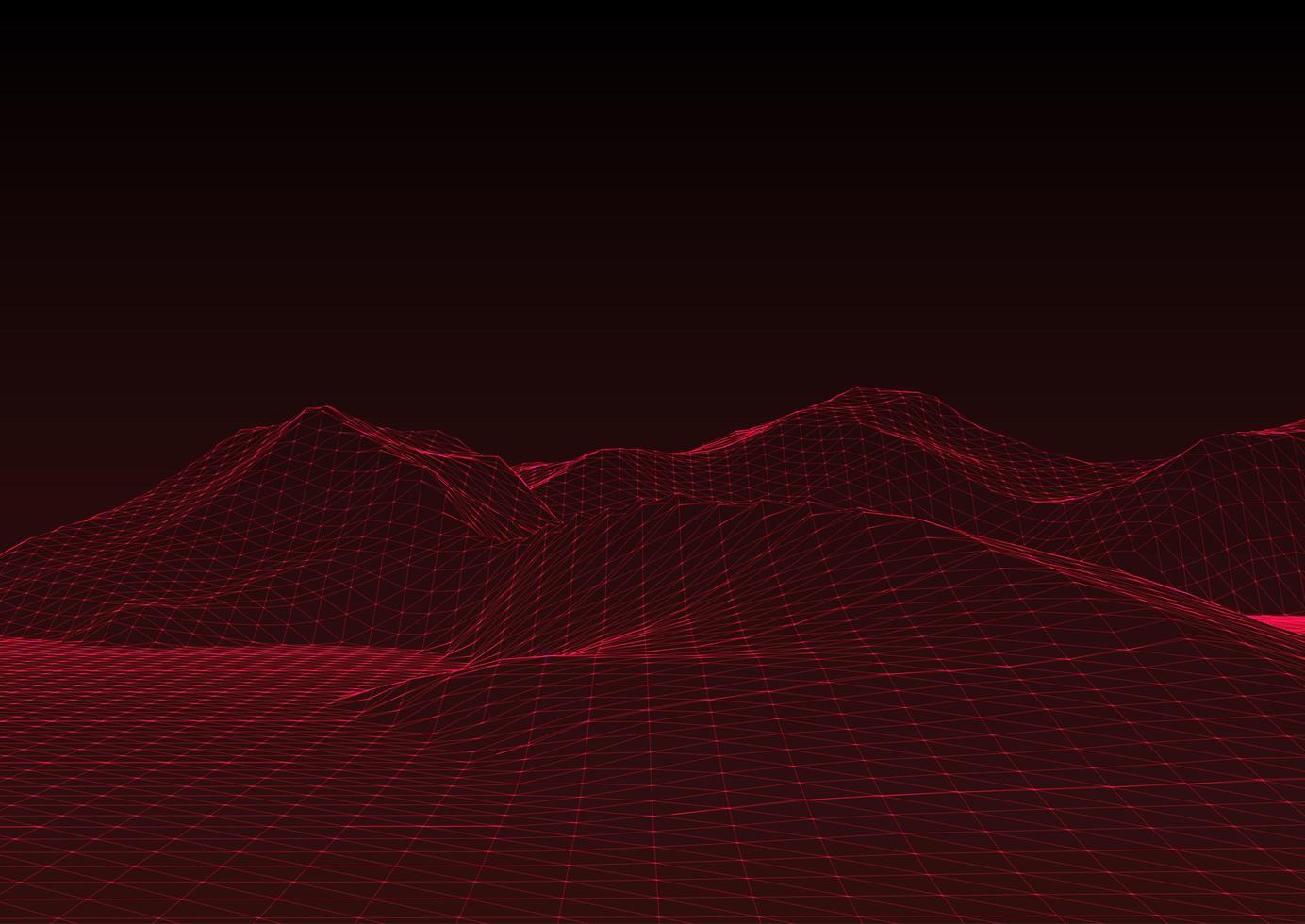 modern wireframe terränglandskap bakgrund vektor