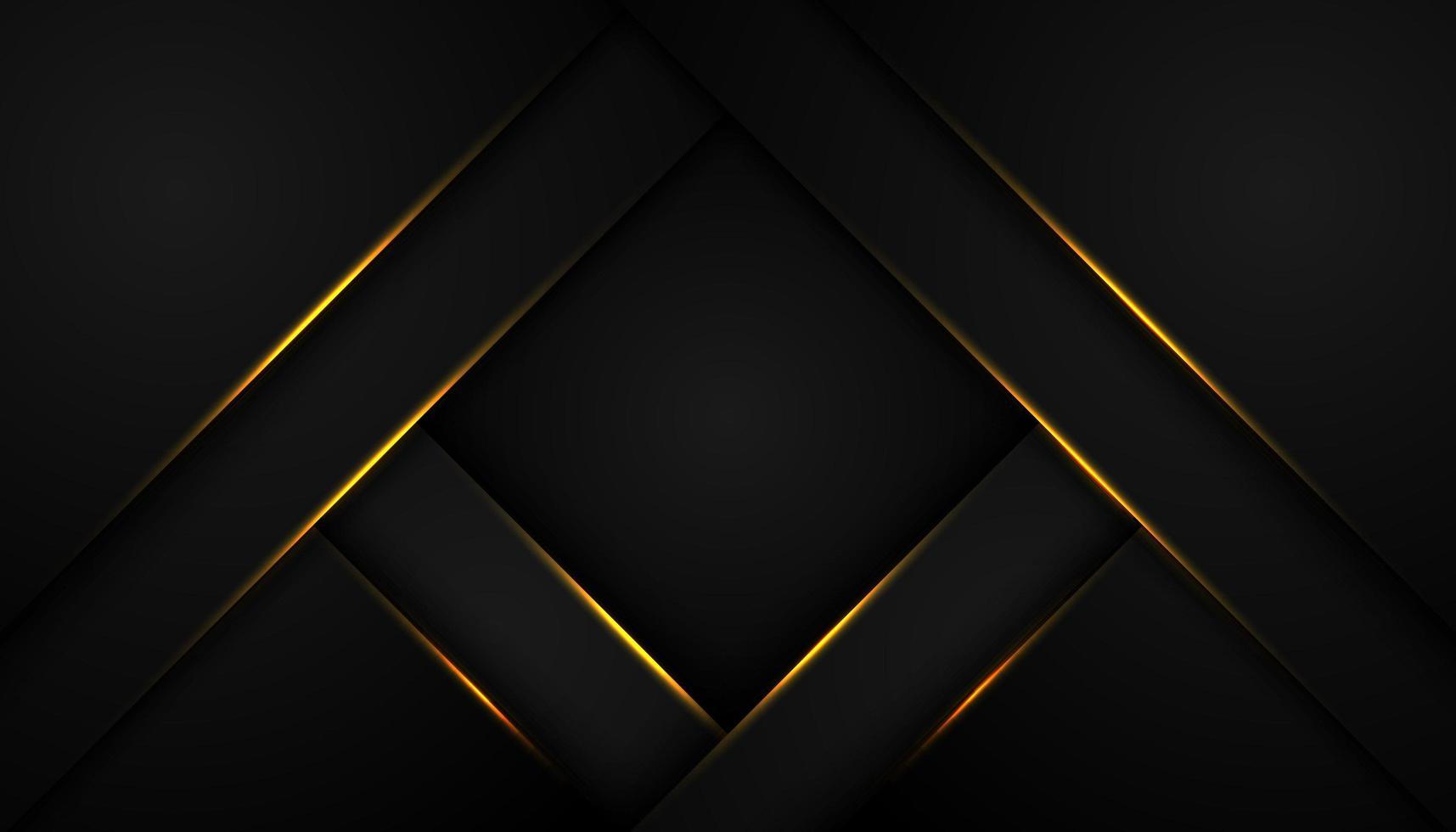 schwarzer abstrakter Hintergrund mit rautenförmigen Schichten vektor
