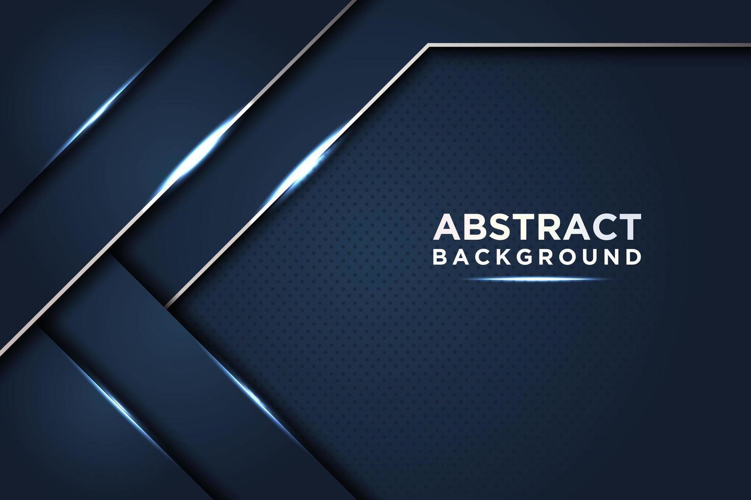 mörkblå abstrakt bakgrund med lysande lager vektor