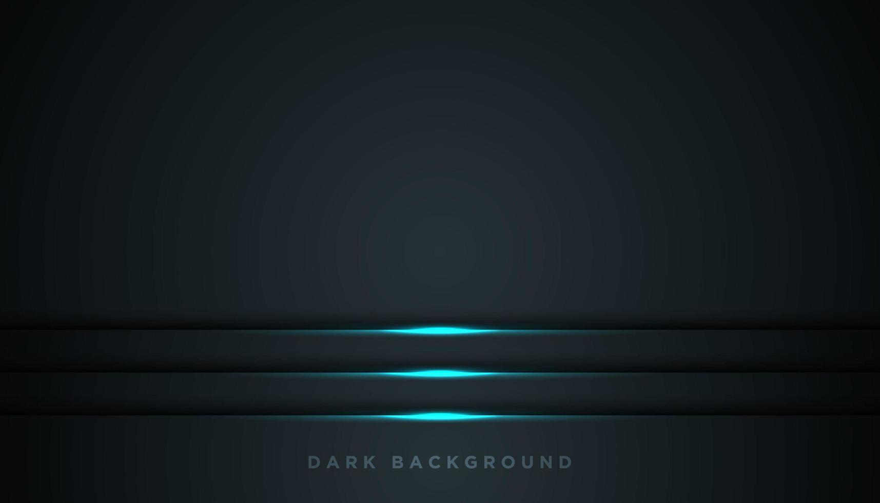 schwarzer Hintergrund mit leuchtend blauen Linien über dem Boden vektor
