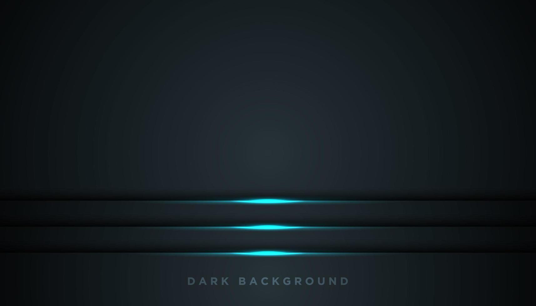 svart bakgrund med lysande blå linjer över botten vektor