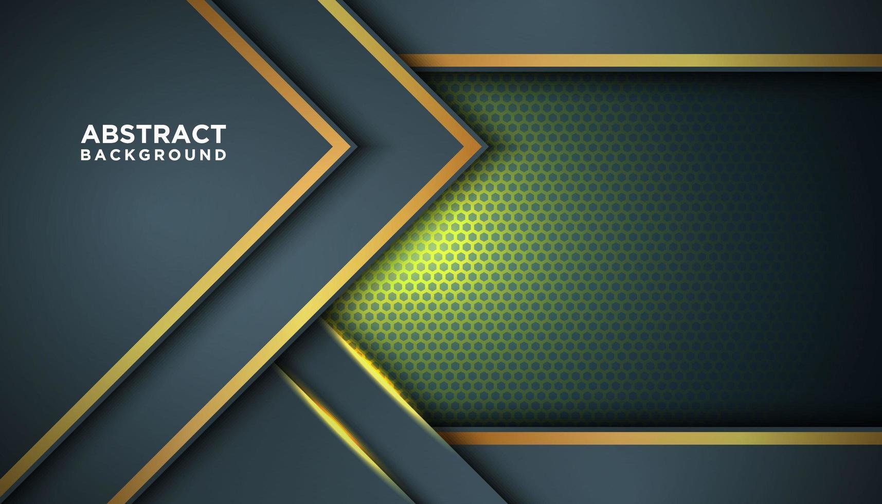 dunkelgrauer abstrakter Hintergrund mit Goldspitzenschichten vektor